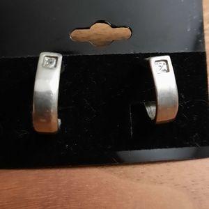 🍒 Silver tone earrings woman jewelry
